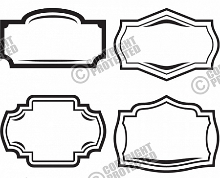 Shapes clipart sign. Vector graphic signage