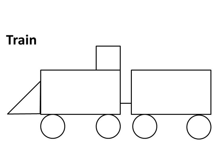 Shapes clipart train. Images of shape