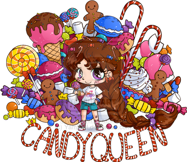Share clipart candy girl. Queen chibi commission by