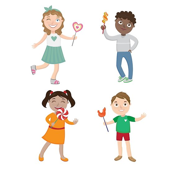 Share clipart candy girl. Children with lollipops happy