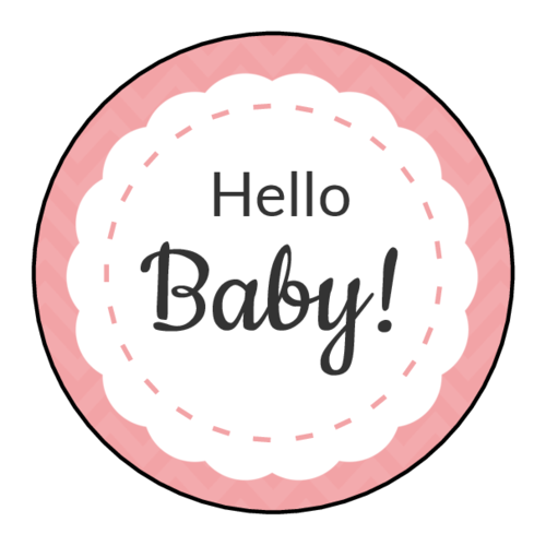 Share me round adhesive labels template png. Baby shower label templates