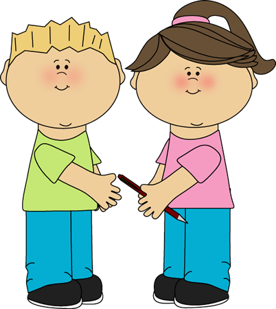 Going clipart kids. Sharing