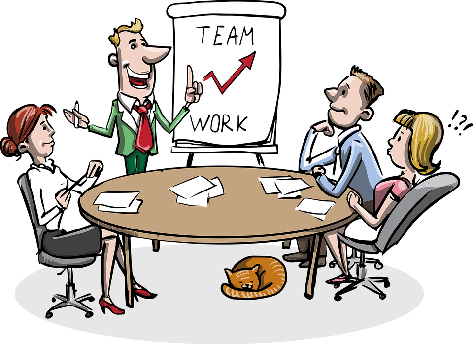 Group teamwork clip arts. Sharing clipart understanding person jpg black and white stock