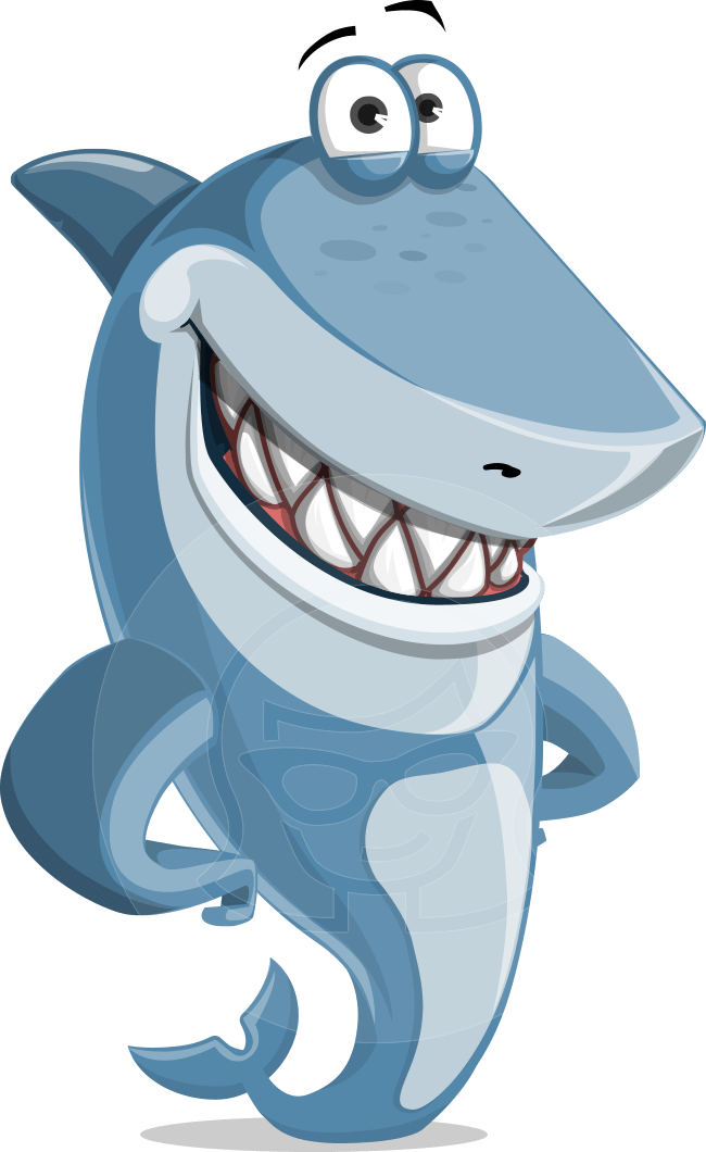 Shark cartoon png. Smiling illustration vector character