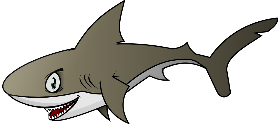 Vector outline shark. Free cliparts download clip