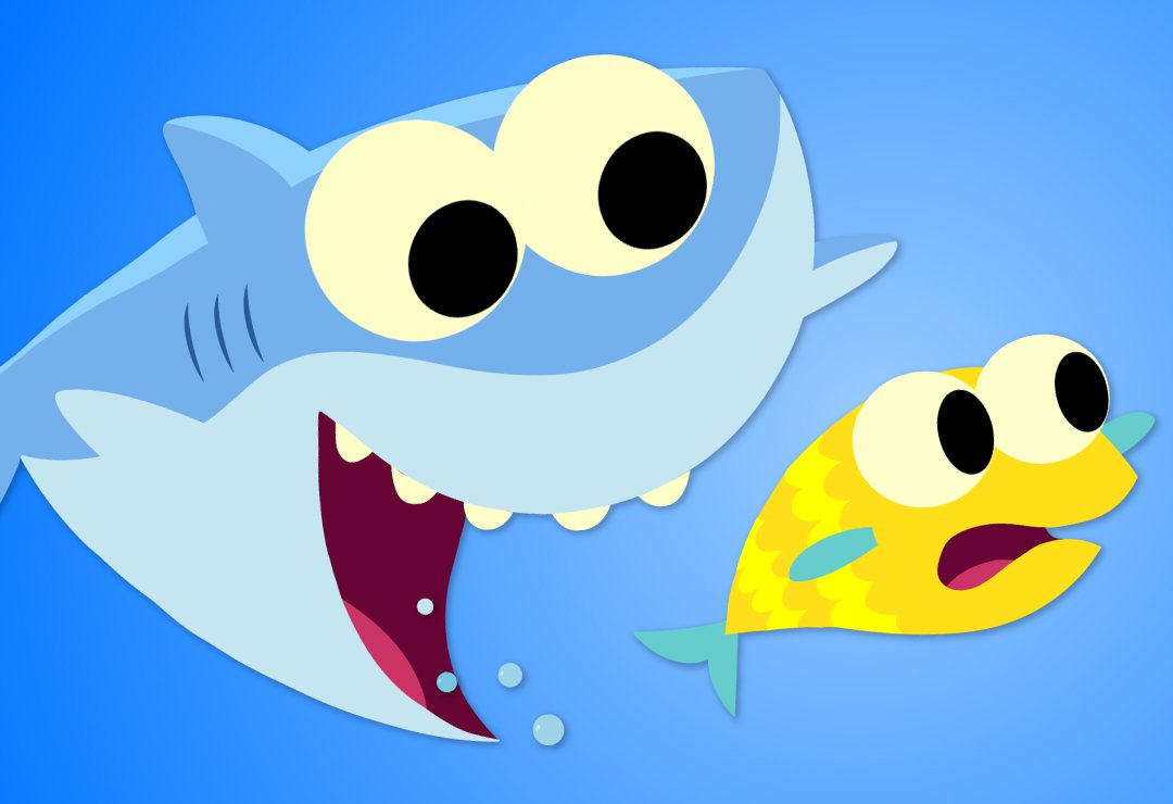 Shark clipart mama. Baby super simple songs