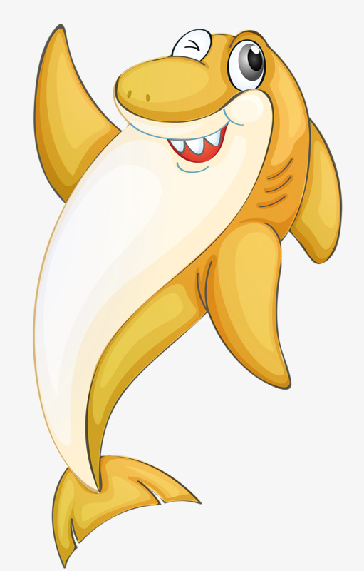 Shark clipart orange. Hand painted smile png