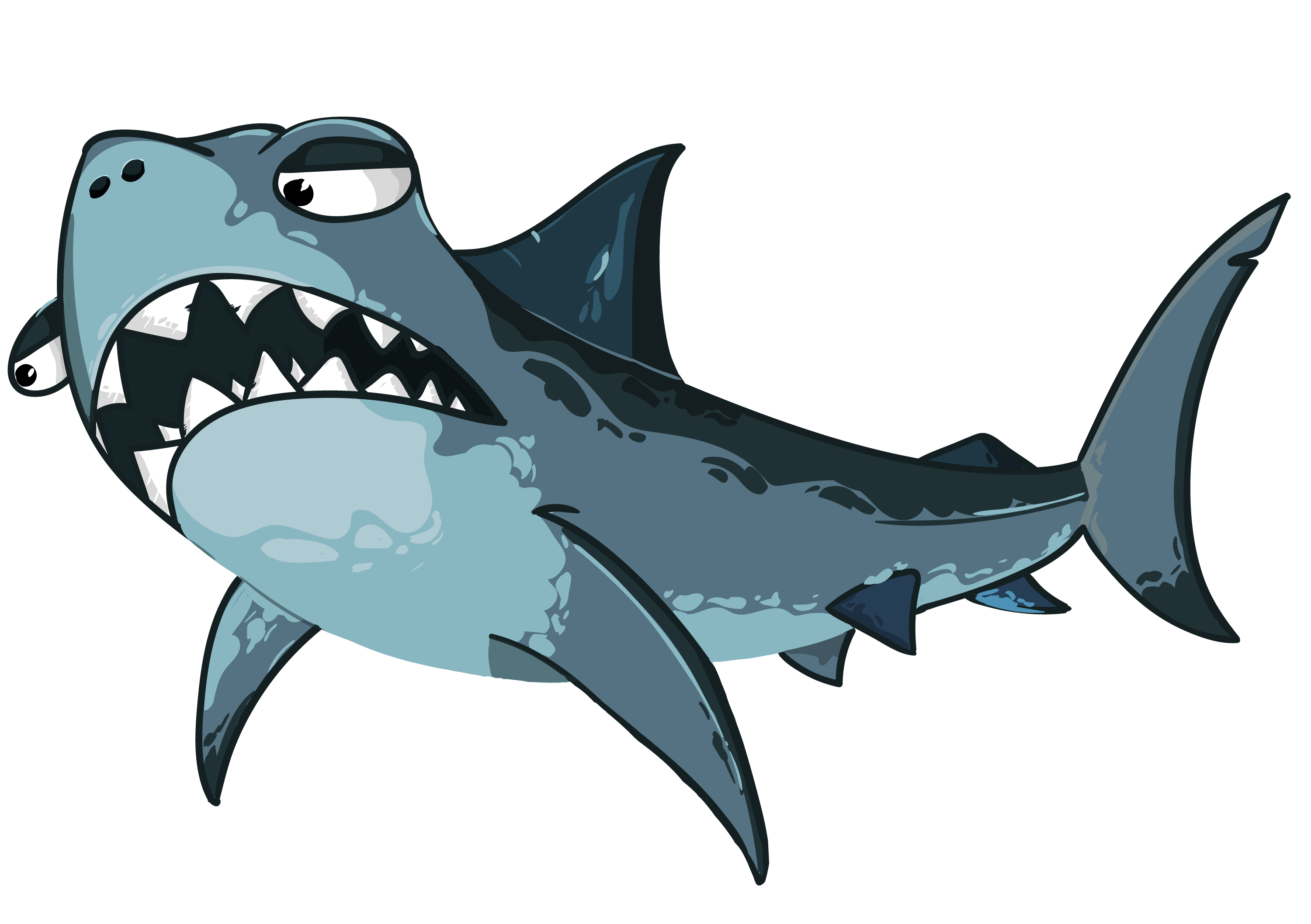 Vector sharks shark fin. Cartoon free vectors for