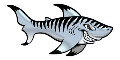 Stingray clipart blue shark. Tiger best fabric