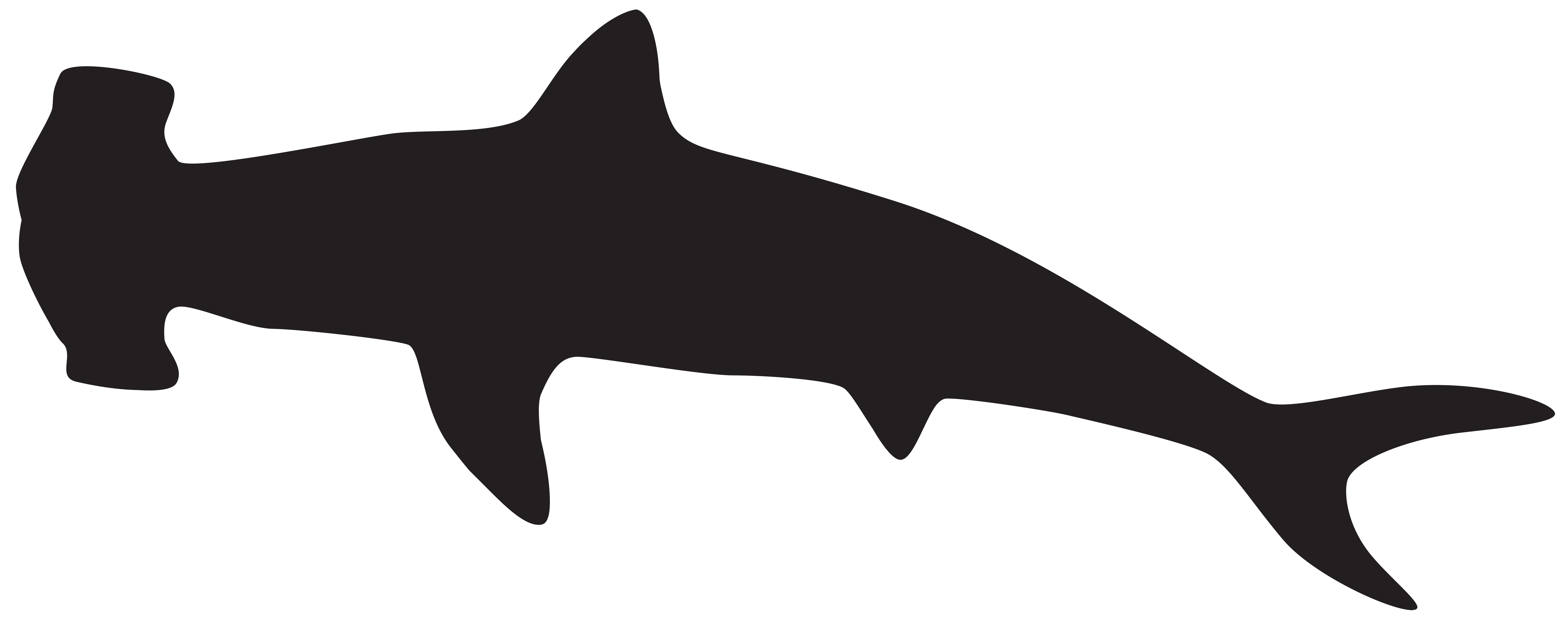 Shark clipart transparent background. Hammerhead silhouette png clip