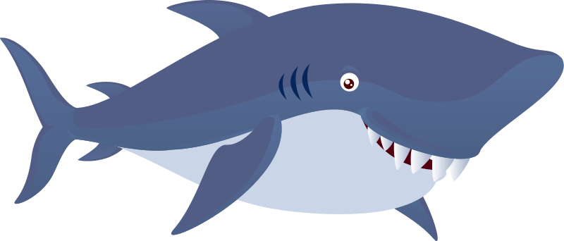 baby shark clipart happy