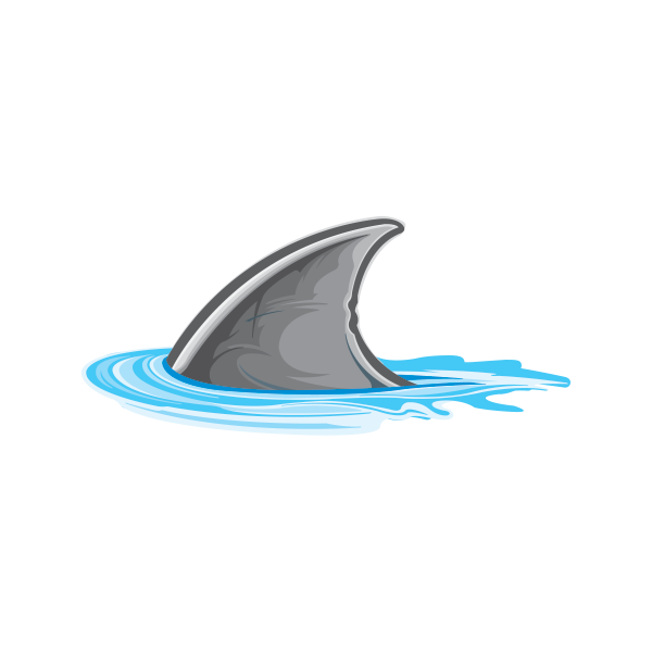 Shark fin png. Printed vinyl stickers factory