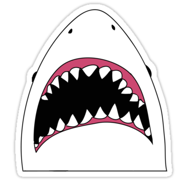 Shark mouth decal png. Stickers tumblr buscar con