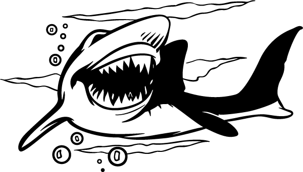 Shark mouth decal png. Tiger bite