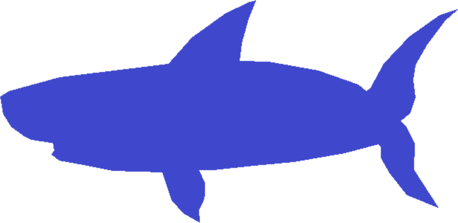 Baby shark clipart blue. Free commercial tooned in