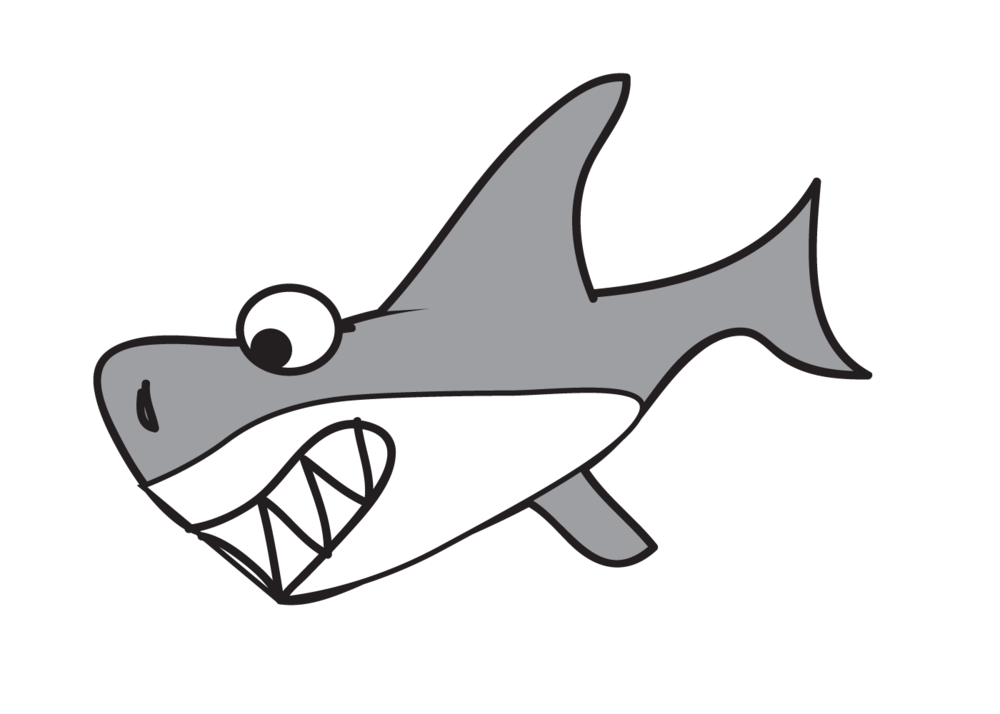 Vector sharks mascot. Free pics of cartoon