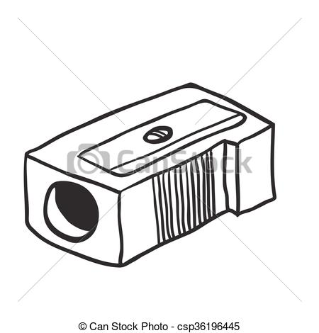 Simple pencil cartoon csp. Sharpener clipart black and white graphic transparent download