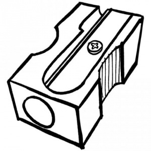 Sharpener clipart black and white. Letters pertaining to