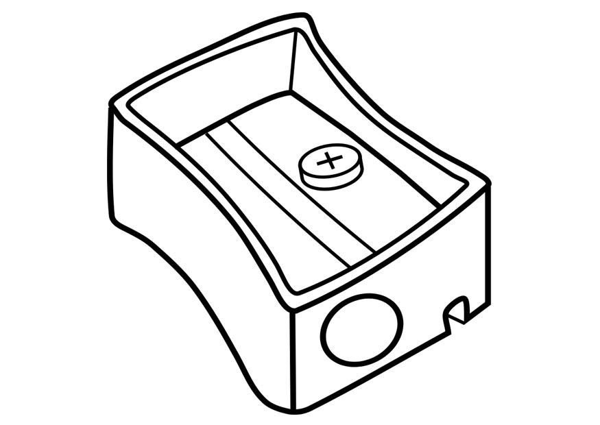 Sharpener clipart black and white. Pencil animehana com coloring