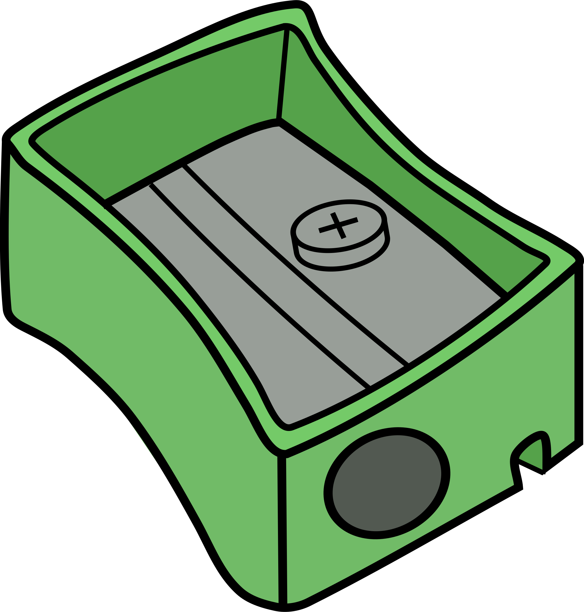 Sharpener clipart cheap. Green pencil big image