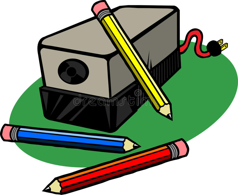 Sharpener clipart cheap. Electric pencil stock illustration png black and white stock