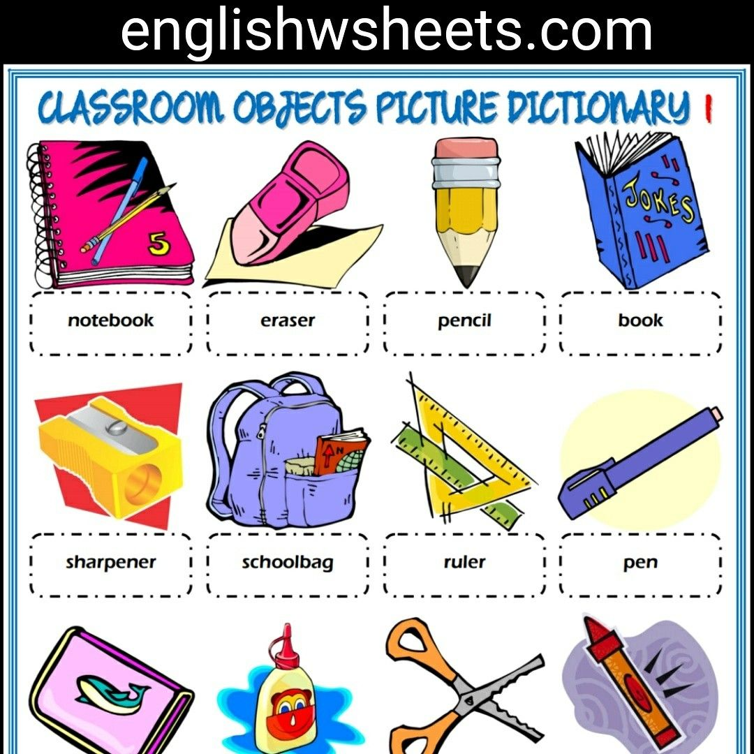 Sharpener clipart classroom object. Objects esl printable picture