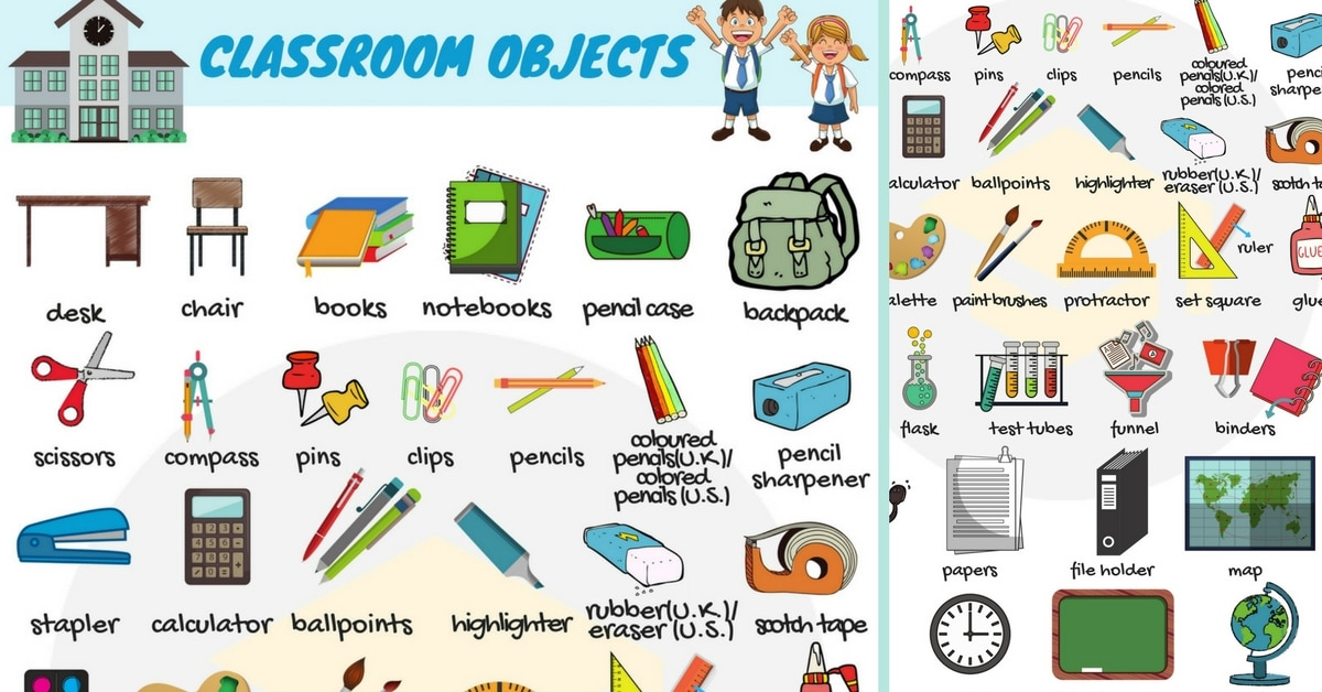 Sharpener clipart classroom object. Objects in english vocabulary