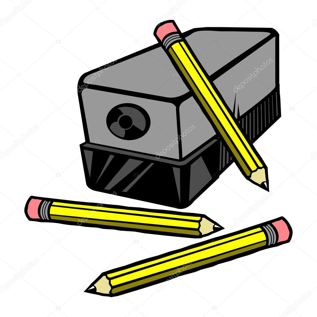 Sharpener clipart pencil. Electric vector icon stock vector free download