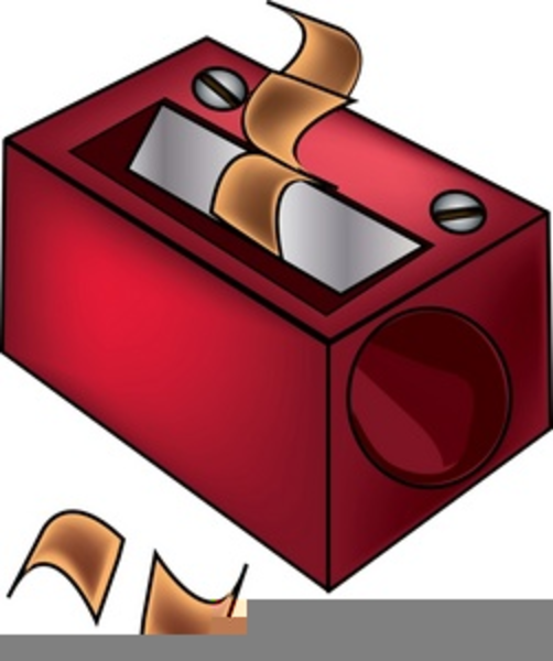 sharpener clipart red