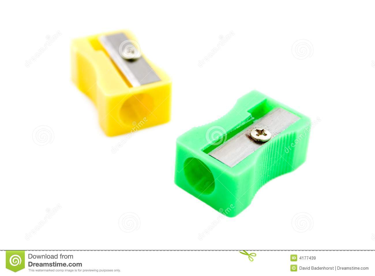 Sharpener clipart small pencil. Green and yellow sharpeners jpg royalty free library