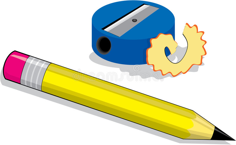 And stock illustration of. Sharpener clipart small pencil clip free stock