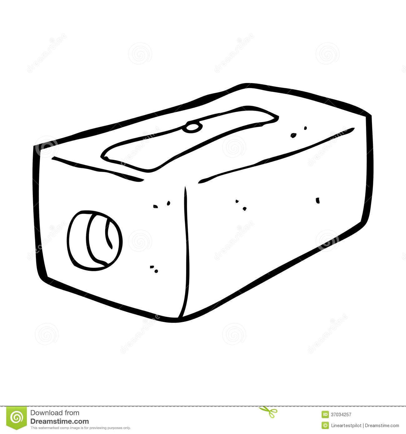 Cartoon stock illustration of. Sharpener clipart small pencil banner freeuse download