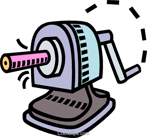 Pencil royalty free vector. Sharpener clipart stationary freeuse library