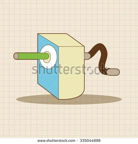 Sharpener clipart stationary. Pencil theme elements vectoreps svg freeuse stock
