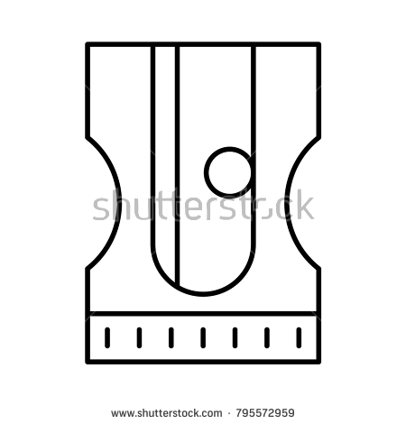 Sharpener clipart stationary. Pencil stock vector shutterstock clip freeuse library