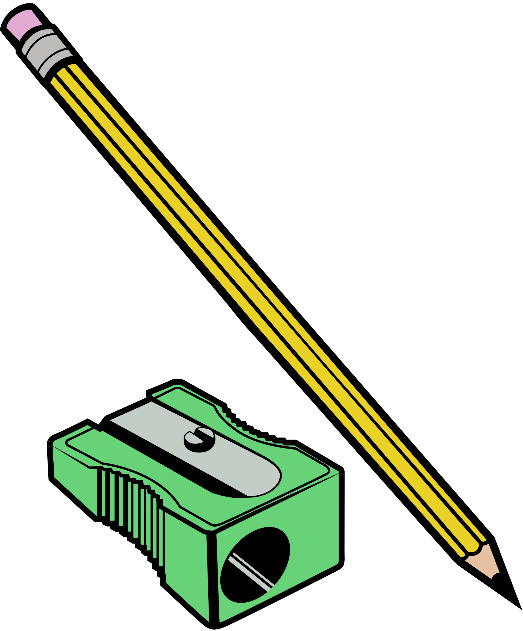 Sharpener clipart yellow. Pencil and colour big