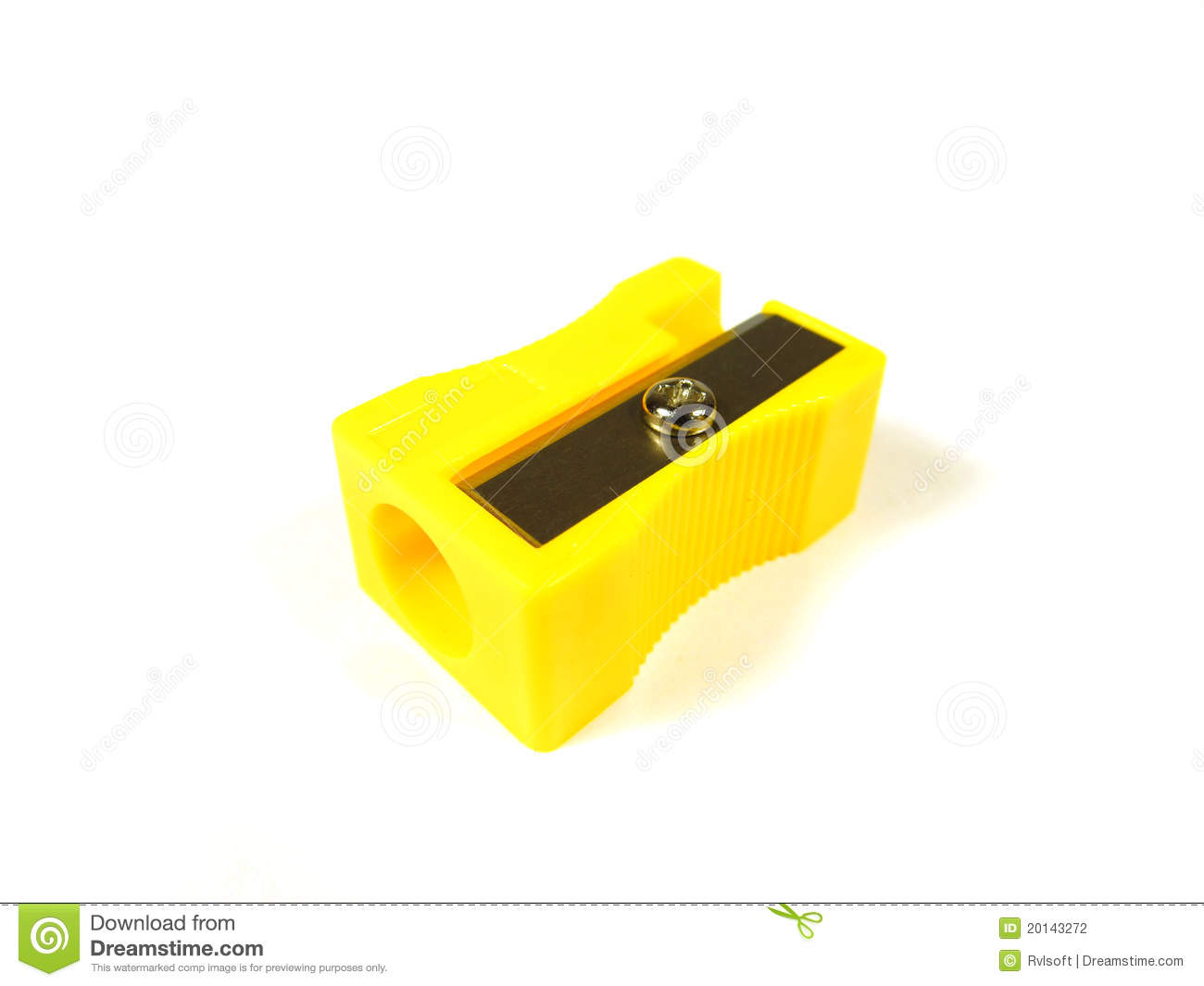 Yellow pencill sharpener stock photo. Image of education - 20143272