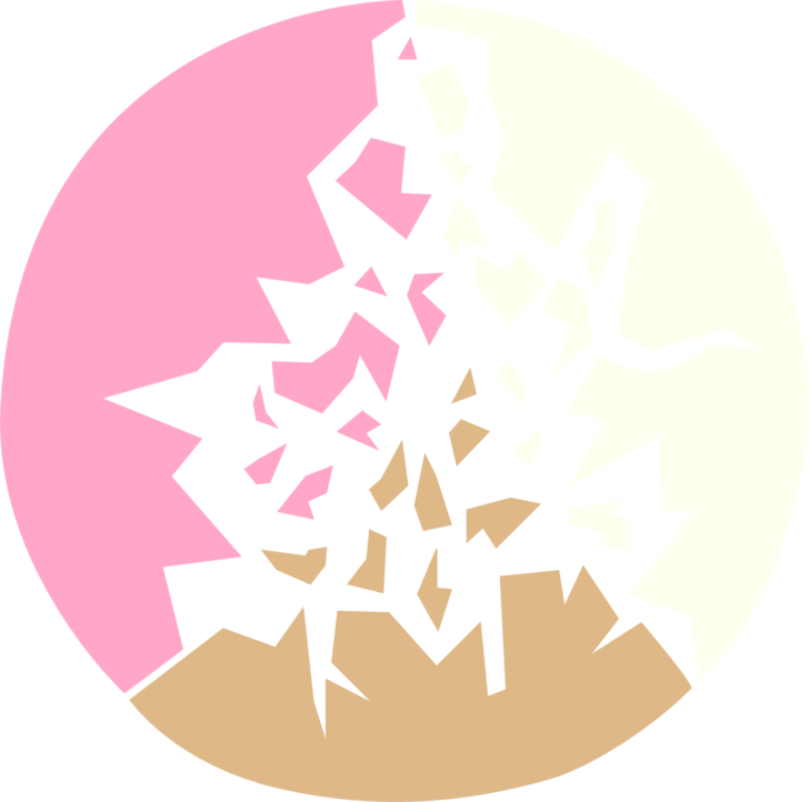 Shatter glass png. Neopolitan abstract minimalist shattered