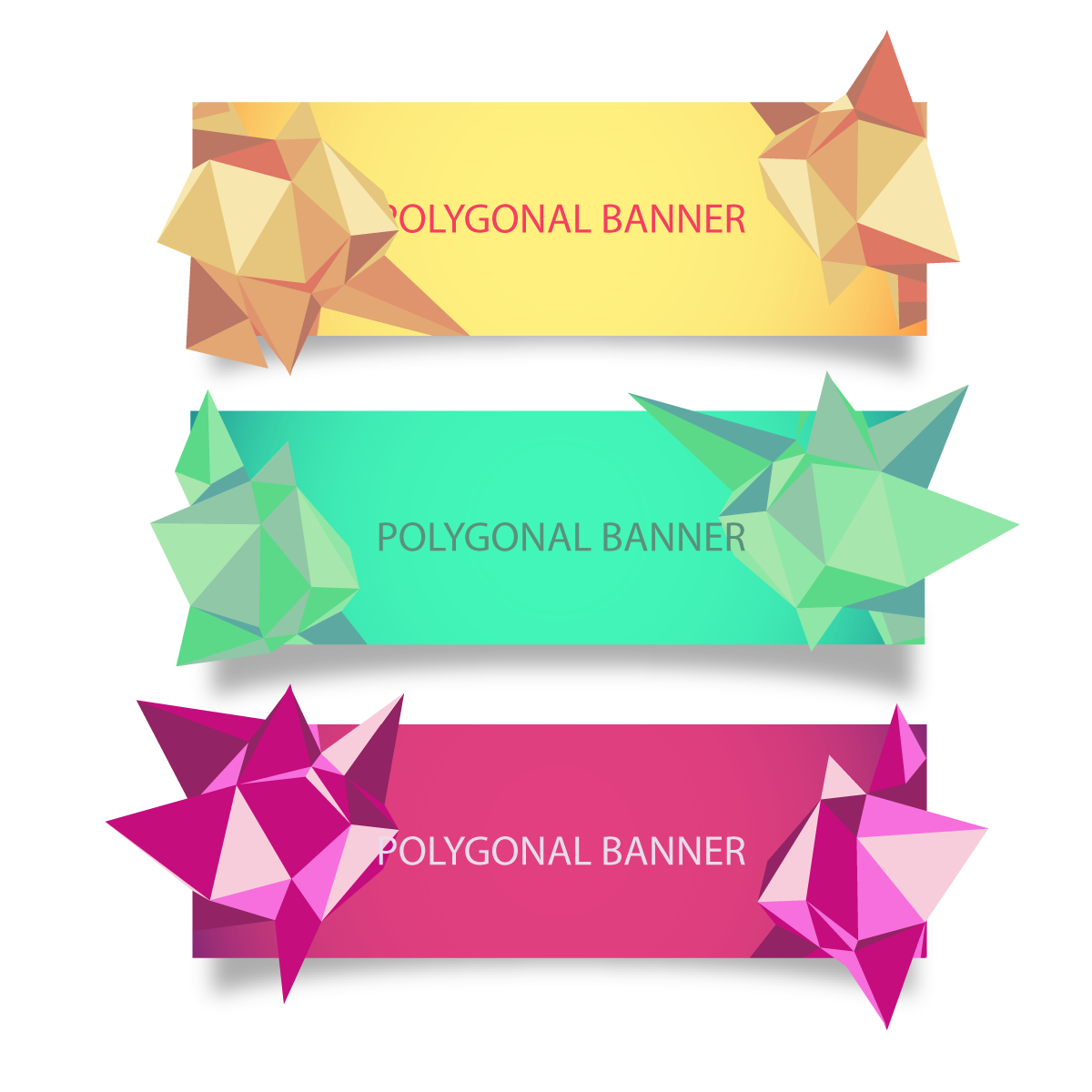 Vector pict polygon. Web banner euclidean download