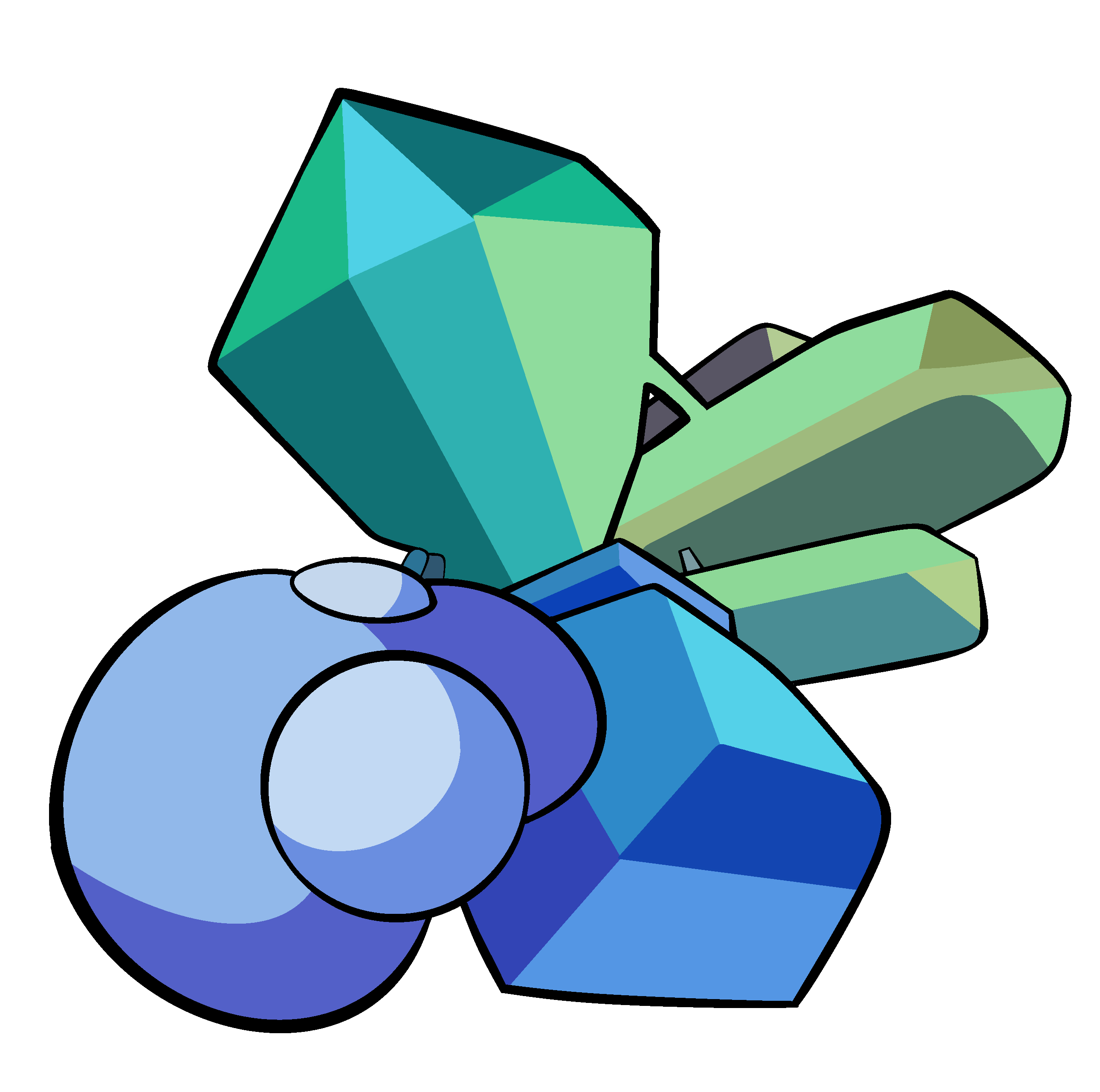 Vector crystal shard. Collection of free gems