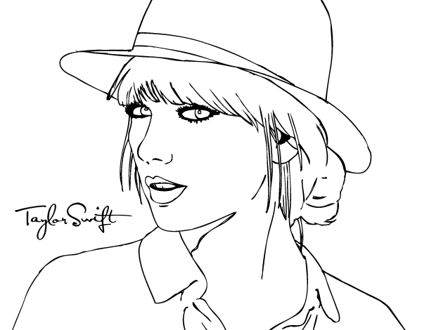 Shazam drawing coloring page. Taylor swift celebrities printable