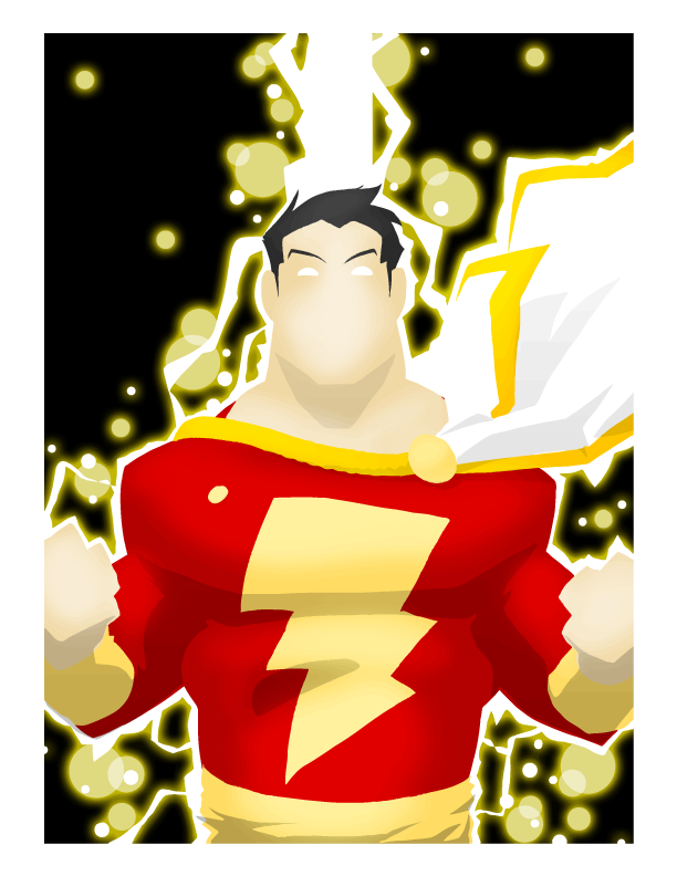 Shazam drawing artwork. Google search captain marvel