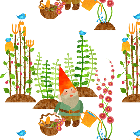 Shears clipart gardening rake. A gnome without his