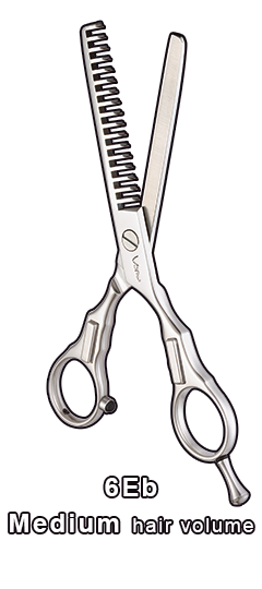Cosmetology drawing comb. Hair thinning scissors vern