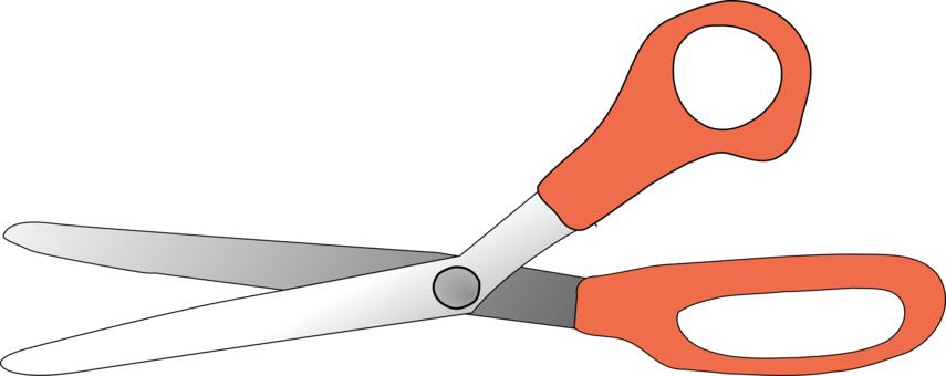 Shears drawing everyday object. Hair cutting scissors computer