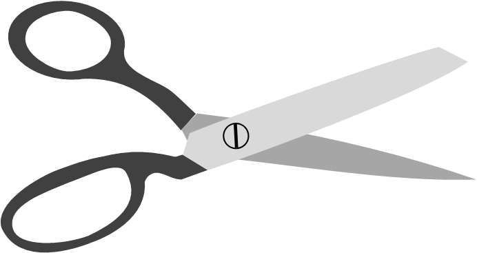 Shears drawing cutting. Animations for slashing and