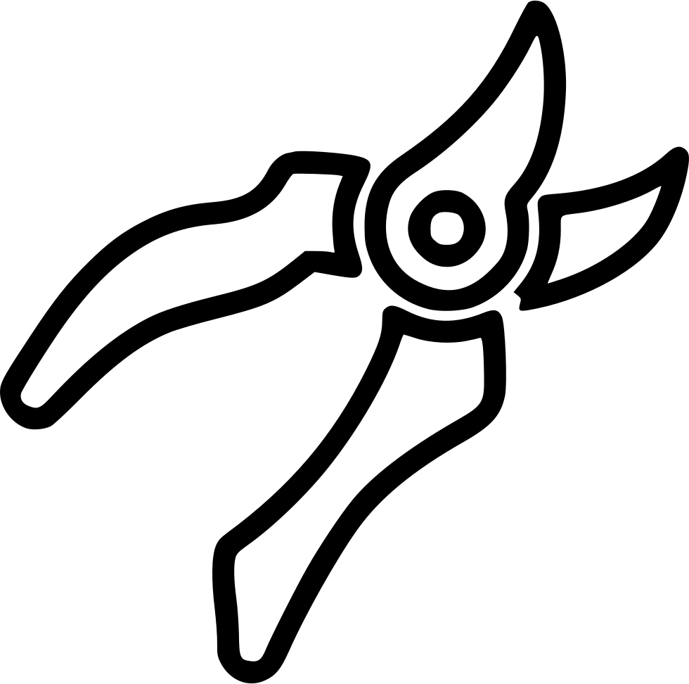 Shears drawing family. Pruning svg png icon