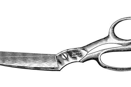 Shears drawing old fashioned. Download wallpaper scissors clipart
