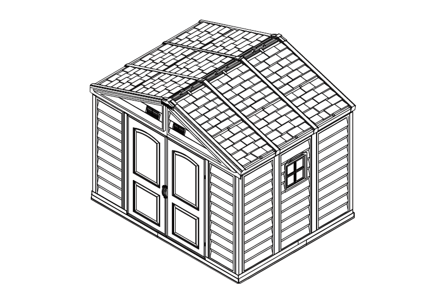 Shed drawing industrial. Installation instructions duramax storage