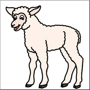 Sheep clipart colored sheep. Clip art cartoon lamb